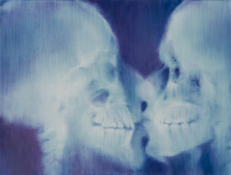 Kiss x-rayed, 115x151, oil on canvas, 2012