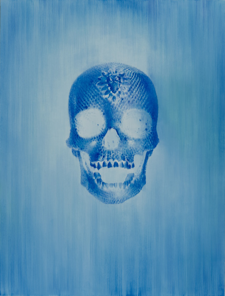 The skull /diptych, 60x45, oil on canvas, 2012