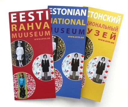 leaflets for the Estonian National Museum