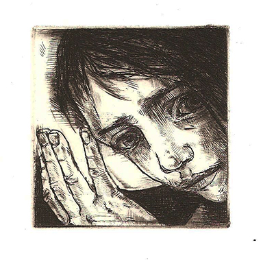 Halo Just Right, intaglio 2015  5x5cm