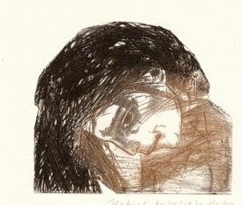 Eastwind, dry point 2010 8,6x10 cm