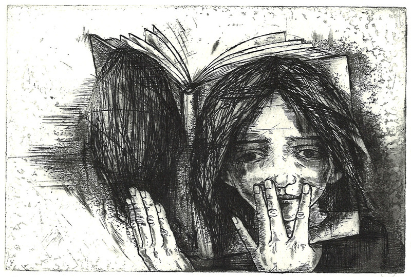 Book Faced, intaglio printing 2013 9,8x14,8cm