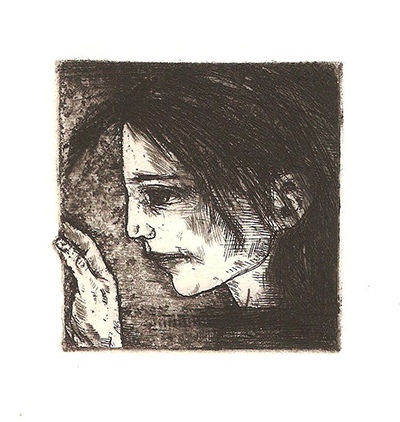 Out of the Box, intaglio 2015  5x5cm