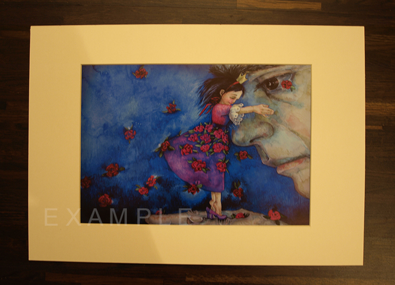 """The Violet Princess""  2012  print from watercolour, paspartou for A3 frame"