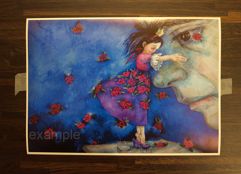 """The Violet Princess""  2012  print from watercolour, A4 size for frame"