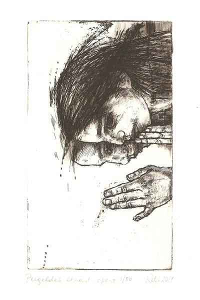 Reflects etching  014 11,8x6,8cm