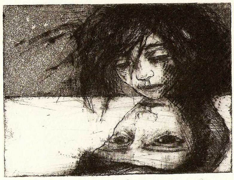 Face the Face, intaglio printing  2010 7,5x10 cm