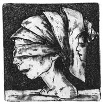 Paper Wear 1, etching 2012 4,9x4,9cm