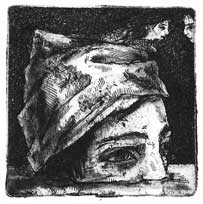 Paper Wear 2, etching 2012 4,9x4,9cm