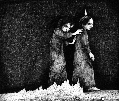 In the Fire, intaglio printing 199513,7 x 16,1 cm