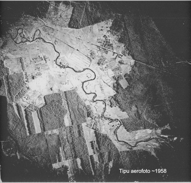 Aerial image of Tipu around 1958