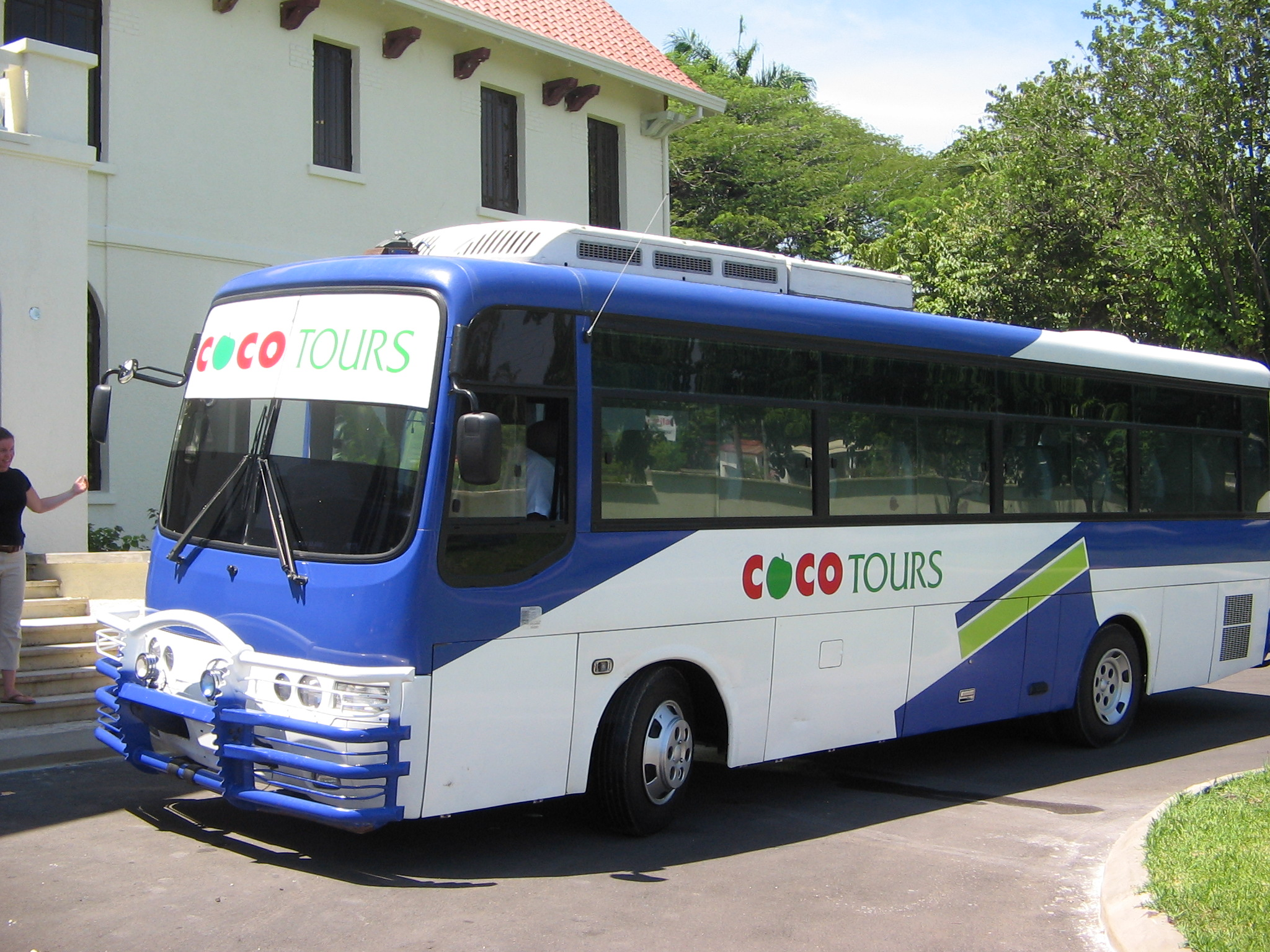 A comfortable coach for a larger group to get from Samana to Amanera