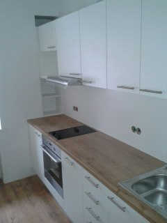 Kitchen with melamine doors