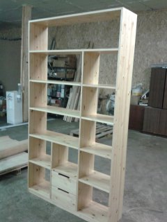 Bookcase made from pine