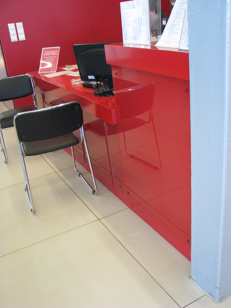 Service desk for Automaailm store in Tallinn Peterburi tee
