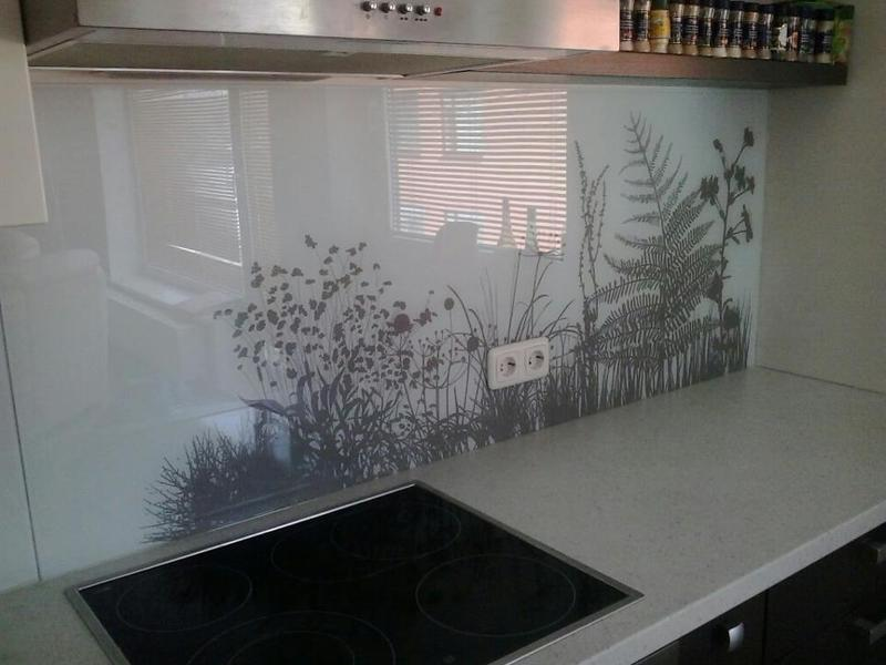Kitchen glass background