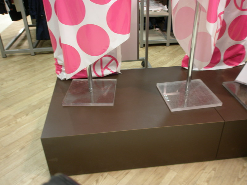 Podiums for Tallinna department store