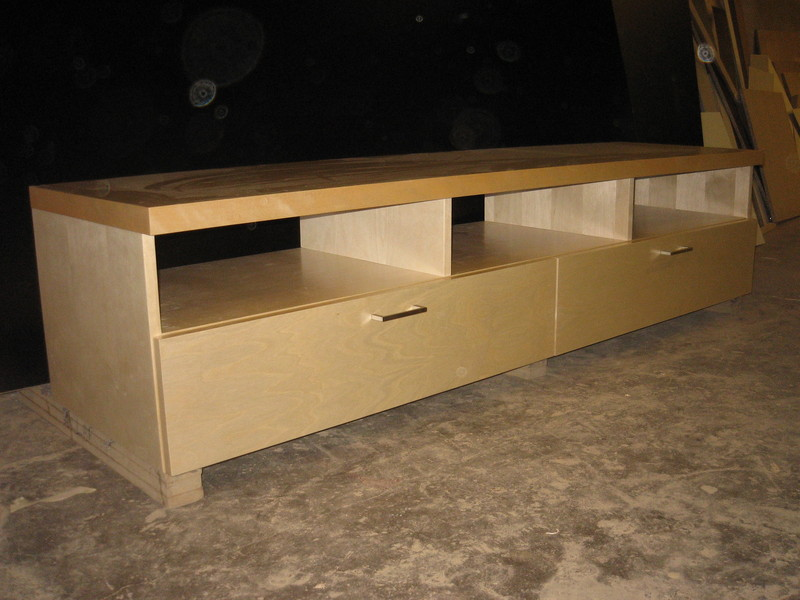 Birch veneer TV base