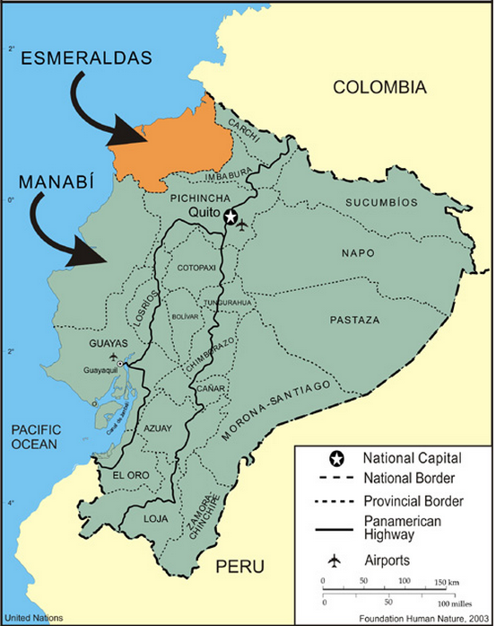 Map of Ecuador and its provinces