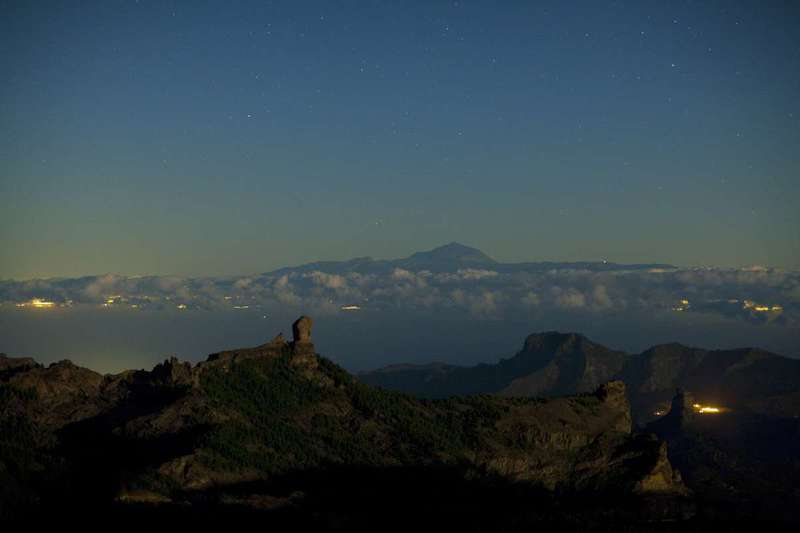 Mount Teide, as seen from Gran Canaria's mountains.